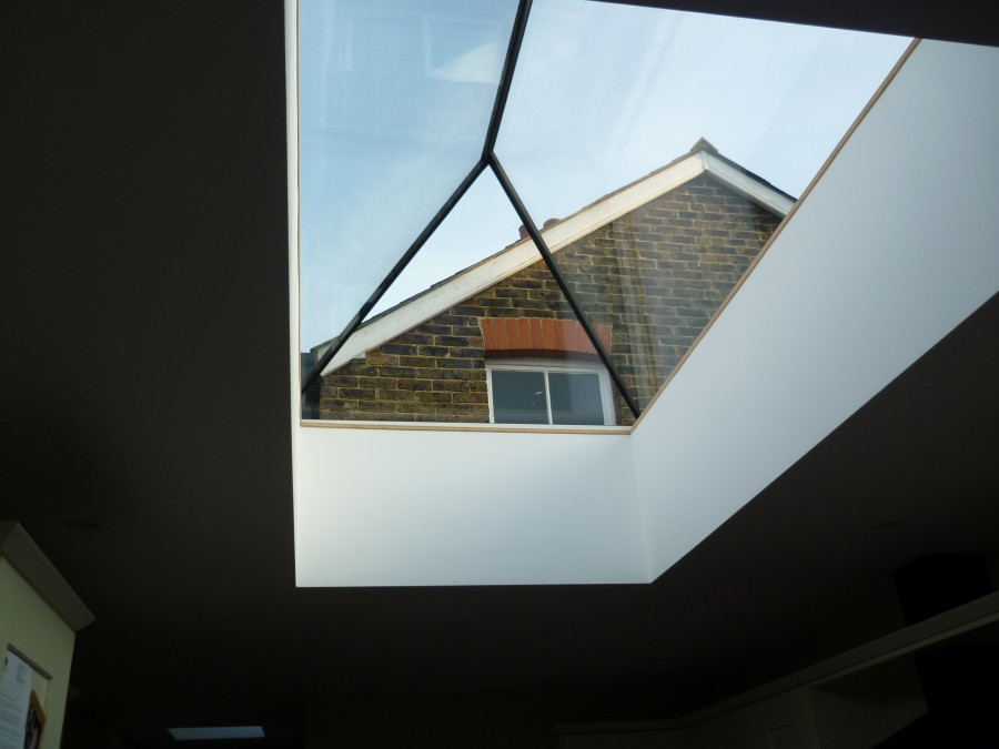 Skylight Roof Lantern Fiber Glass Flat Roof Rear