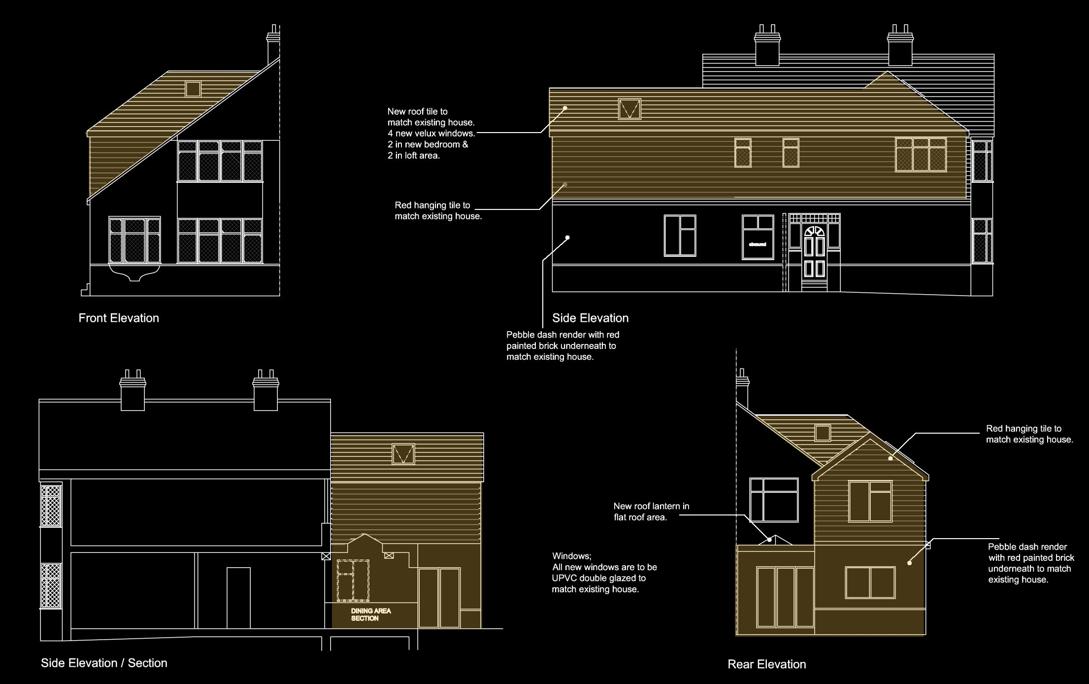 Double storey extension, single storey extension, chalet house, vaulted ceiling, loft conversion ...